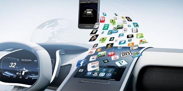Akıllı telefon entegrasyonu için esnek Bosch çözümü; mySPIN