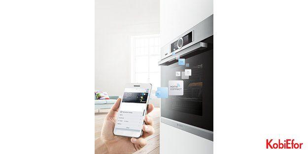Bosch Home Connect ankastre fırın ile yemeğiniz siz eve gelmeden hazır