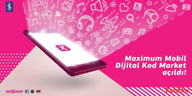Eğlencenin dijital kodları Maximum Mobil'de