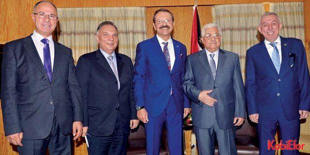 Filistin Devlet Başkanı Abbas, TOBB Başkanı Hisarcıklıoğlu ile görüştü