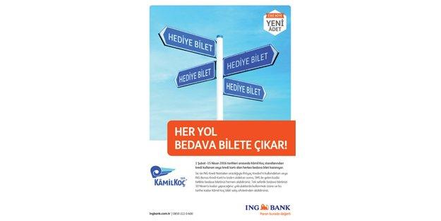 ING Bank, Kamil Koç işbirliği hediye bilet kazandırıyor