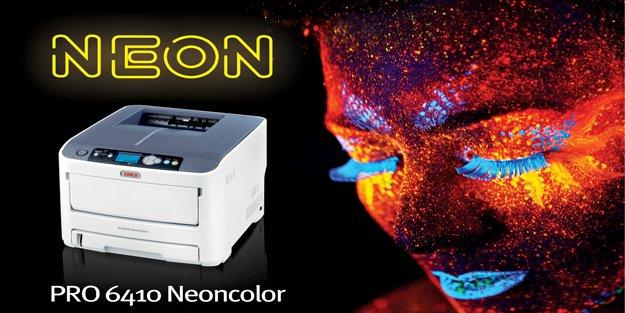 OKI'nin renkli neon yazıcısıyla göz alıcı floresan baskılar