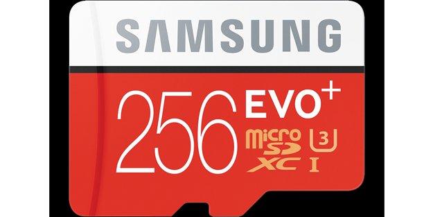 Samsung Electronics'ten; EVO Plus 256 GB MicroSD