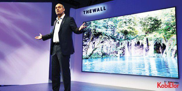 "Samsung'dan dünyanın ilk modüler 146-inç MicroLED TV'si 'The Wall"""