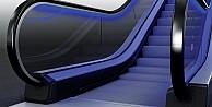 KONEden yürüyen merdivenlerde güvenlik ve geleceği düşünen aydınlatma