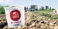 Vodafone Akıllı Köyde ilk patates hasadı yapıldı