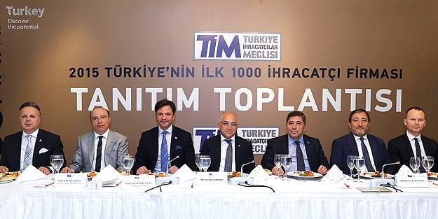 TİM, 2015 yılının en başarılı İlk 1000 ihracatçı firmasını açıkladı
