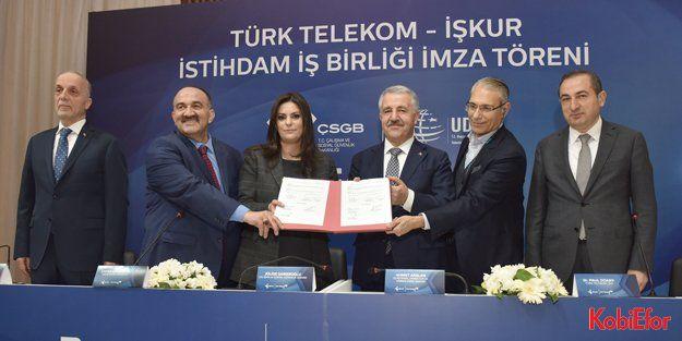 Türk Telekom ile İŞKUR işbirliği 2500 kişiyi istihdam edecek