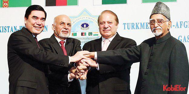 'Türkmenistan Mavi Altını Hindistan yolunda