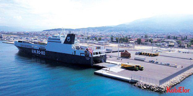 U.N. Ro-Ro, Yunanistan'ın Patras Limanı'na sefere başladı