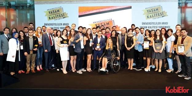 'Üniversiteliler Arası Yaşam Kalitesi Yarışması'nın ödül töreni yapıldı