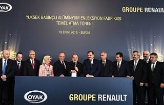 Oyak Renault yeni yatırımın temelini Sanayi ve...