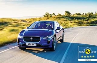 Jaguar I-PACE, Euro NCAP güvenlik testlerinden 5...