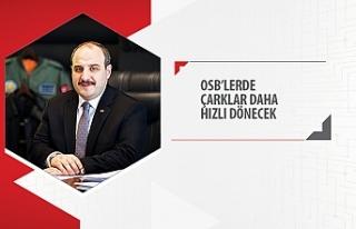 """Sanayi ve Teknoloji Bakanı Mustafa Varank; """"OSB'lerde..."""