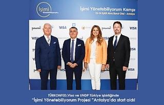 """TÜRKONFED, Visa ve UNDP işbirliğiyle """"İşimi..."""