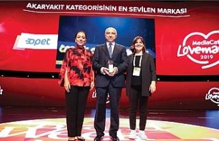 Türkiye'nin 'en sevilen akaryakıt markası'...