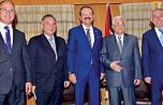 Filistin Devlet Başkanı Abbas, TOBB Başkanı Hisarcıklıoğlu...