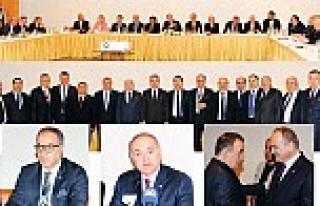 Kocaeli'de OSB Başkanları ile bir araya gelen...