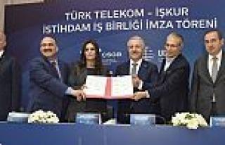 Türk Telekom ile İŞKUR işbirliği 2500 kişiyi...