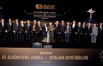 DEİK 33. Olağan Genel Kurulu ve Ustalara Saygı Ödülleri Töreni gerçekleştirildi