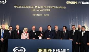 Oyak Renault yeni yatırımın temelini Sanayi ve Teknoloji Bakanı'nın katılımıyla attı