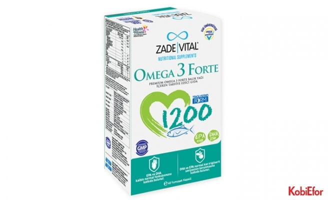 Yüksek dozda Omega 3 desteği: Zade Vital Omega 3 Forte