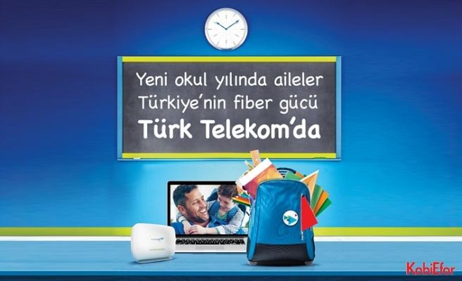 Yeni eğitim öğretim yılında ailelerTürk Telekom'da