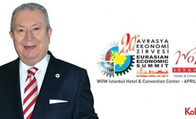 20. Avrasya Ekonomi Zirvesi 4-6 Nisan 2017'de İstanbul'da