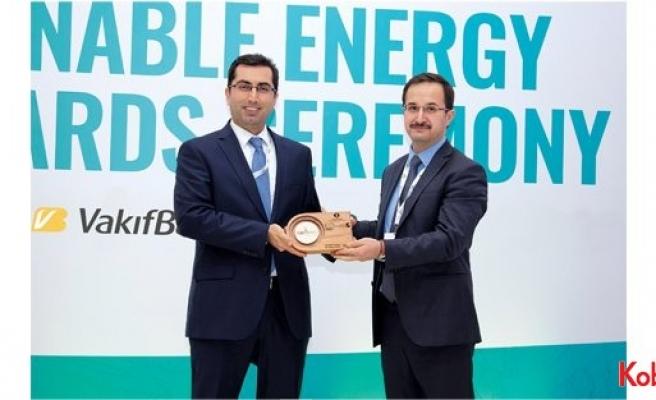 VakıfBank'a enerji verimliliği finansmanında lider banka ödülü